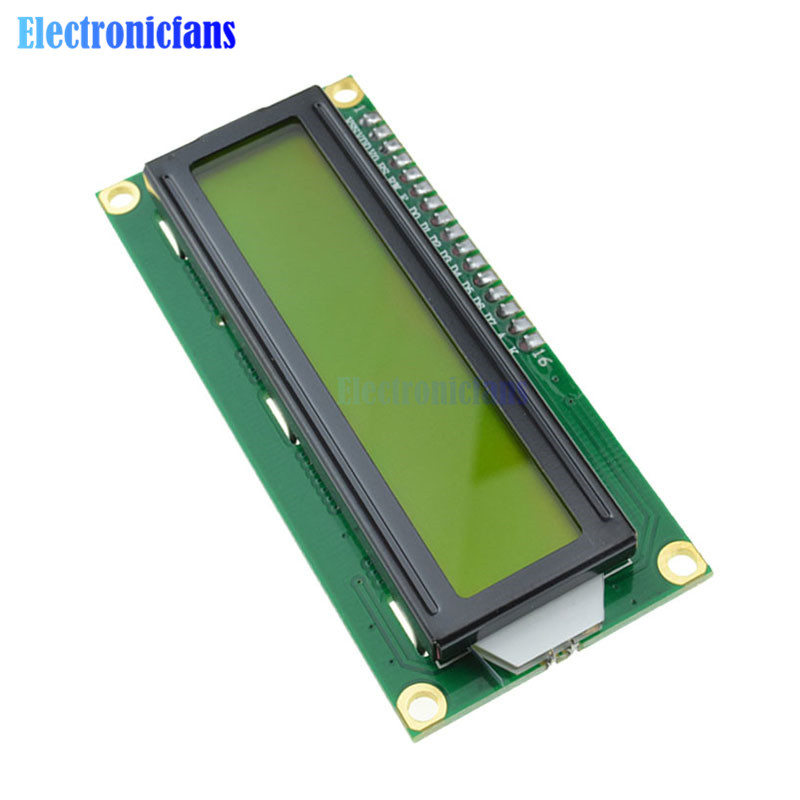 1602 16X2 LCD Module IIC I2C TWI S I Serial Interface Yellow LCD Display 1602 16 X 2 Character For Arduino Controller