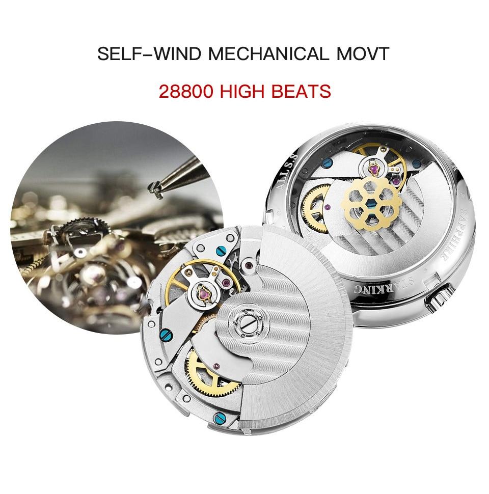 HTB1YEeDXo rK1Rjy0Fcq6zEvVXar STARKING Luxury Brand Cheap Mechanical Watch Auto Date Automatic Self-wind Male Clock 28800 High Beat Watch Relogio Sport TM0915