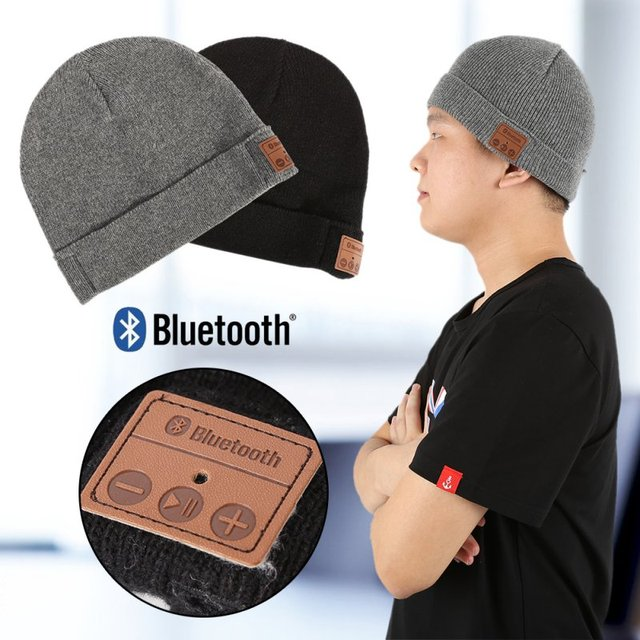 16d415eff US $5.87 20% OFF|Soft Winter Warm Beanie Hats for Women Men Unisex Wireless  Bluetooth Smart Cap Headset Headphone Speaker Mic Bluetooth Hat LL3-in ...