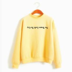 Ariana Grande Sweatshirt No Tears Left To Cry Hoodie Women Print Harajuku God Is A Woman Sweatshirts Pullover Cewneck Warm Tops 5
