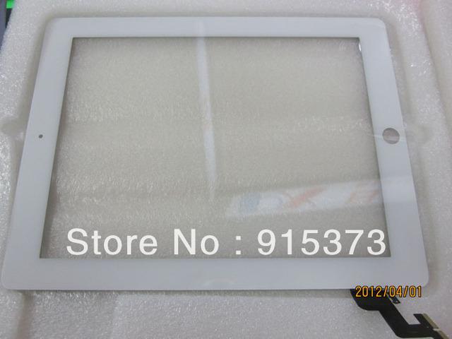 Para ipad 2 2g tela sensível ao toque de substituição digitador de vidro na cor branca com 3 m adesiva para ipad2; frete grátis
