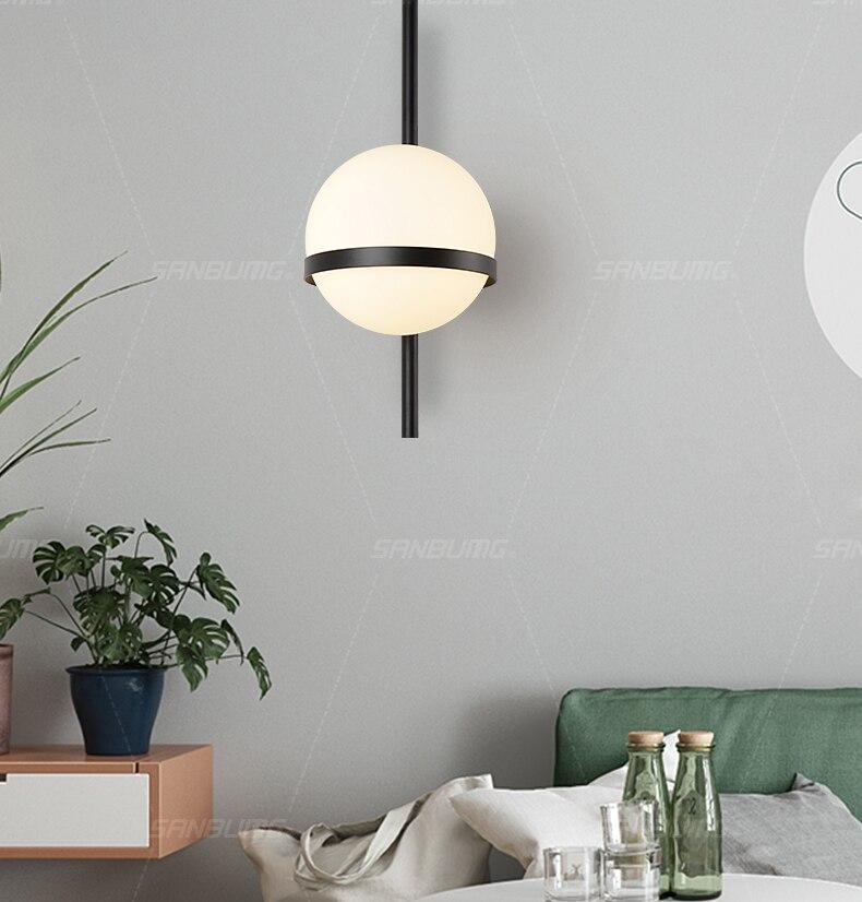 criativo moderno arandela lua redonda lâmpada cabeceira