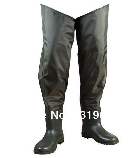 цена на Size 41 Green Boot-foot Fishing Wader Fly Carp Waterproof Fishing Pants
