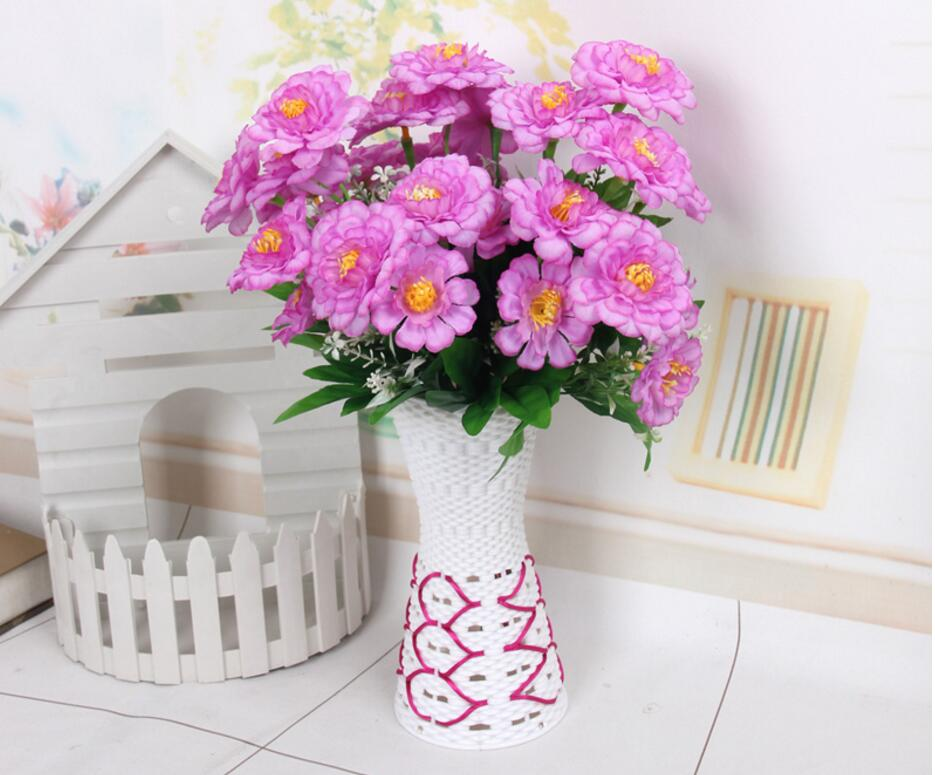 10PCSTable set plastic small pot garden contracted vase lovely table head puts floret in Party DIY Decorations from Home Garden