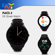 "Original NO. 1 D5 Smartwatch 1,3 ""360×360 Android 4.4 OS 512 MB + 4 GB MTK6572 Smart Uhr mit SIM slot Wifi Bluetooth Herzfrequenz"