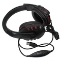 2016 NUEVA Moda Música Chat Negro USB Micrófono Estéreo Con Cable de Auriculares Auriculares Auriculares con MICRÓFONO para PS3/PC Gaming auriculares