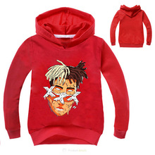 Z&Y 2-14Years Xxxtentacion Sweatshirt Baby Red Hoodie Boy Clothes Kids Boys Hoodies for Teenagers Sweaters Pullovers Infant Nova