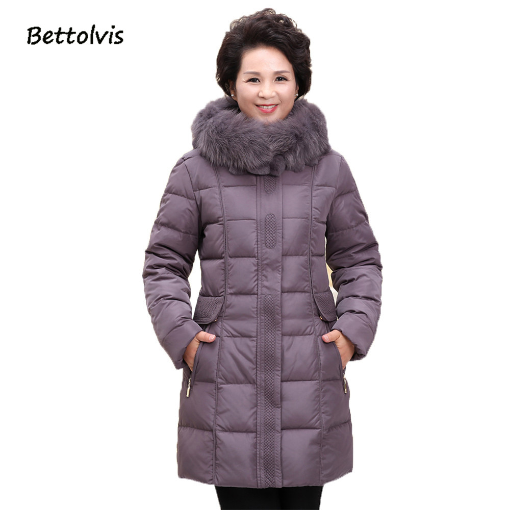 2017 New high quality winter jacket women slim real fox fur collar thick coat hooded duck down parka outwear casual overcoat dreak the new outdoor men s thick down jacket collar mens winter parka jacket coat lightweight jacket outwear overcoat