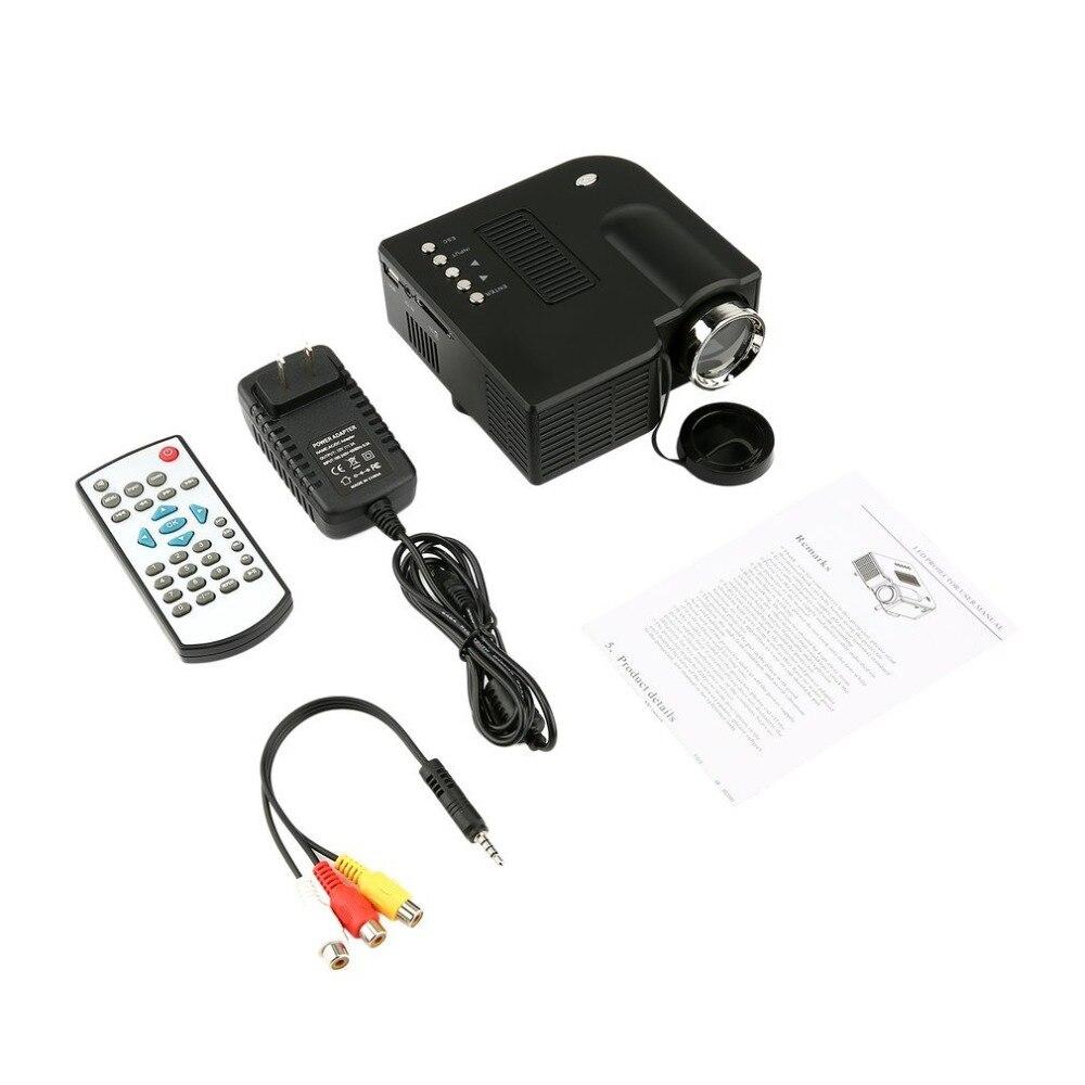 UC28 + Mini Portable 1080 P HD Projecteur led LCD Accueil salle de cinéma Mis À Jour HDMI Interface Divertissement beamer proyector