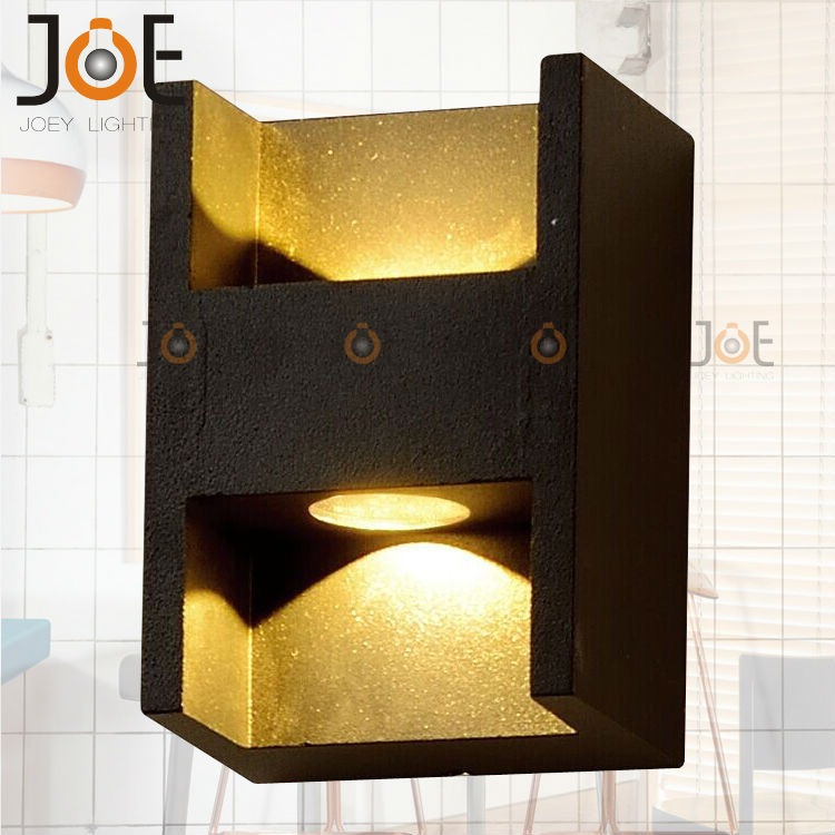 Modern LED 2W outdoor wall lamp Porch light fashion garden IP54 for art home decoration double wall sconce light fixture 1052 led recessed wall light outdoor waterproof ip54 modern wall lamp for stairs art home decoration sconce lighting fixture 1097
