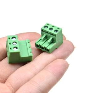 3 комплекта Без припоя стыковочный Тип 2EDG 2/3/4/5/6/7/8/9 контактный винтовой клеммный блок разъем 5,08 мм Шаг штепсельная вилка + розетка 2p 3p 4p 5p 6p