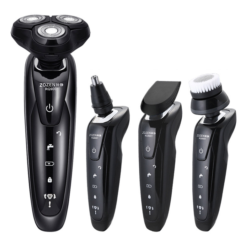 Men's 4D Electric Shaver 4 IN 1 Beard Trimmer Rechargeable Razor for Men Shaving Machine Face Care Electric Shaver 4d 4 in 1 electric shaver men shaving machine razor rechargeable multifunction electric razor wholebody washable four head