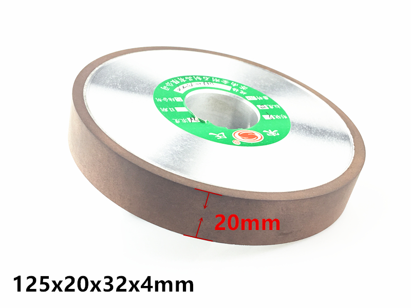 Jrealmer 125x32x20mm Diamond Grinding Thickening Wheel Processing Saw Blade Cutter Grinder 32mm Hole