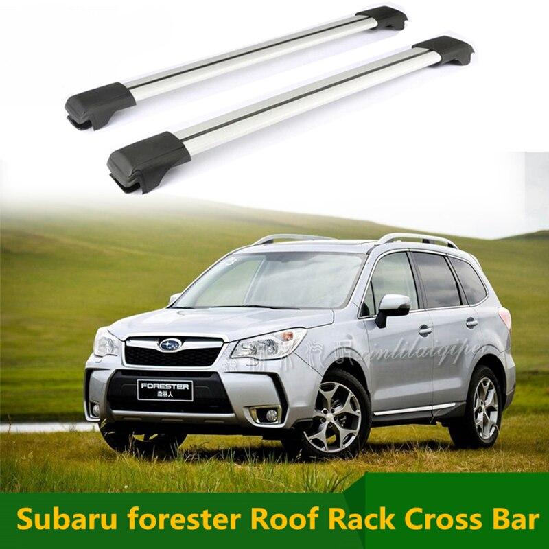 for subaru forester 2009 2017 roof rack rails cross bar luggage carrier bars top racks rail boxes aluminum alloy 2pcs