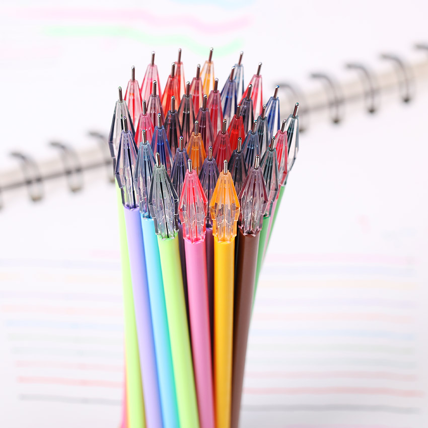 12 Color Creative Stationery Color Gel Pen Diamond Head Refills For 0.38mm Office Supplies Essential 12PCS/lot