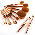 5/6/10 Fashion Tooth brush Shape Silver Gold Makeup Brushes Pinceaux Maquillage Powder Blusher Eyeshadow Lip Cosmetic Face Tools