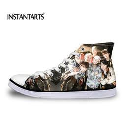 INSTANTARTS KPOP Star BTS Bangtan Boys BT21 Love Yourself новая парусиновая обувь для женщин JUNG KOOK JIMIN Fans поддержка повседневная обувь