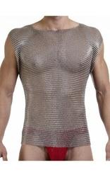 Cadena de correo de acero inoxidable cuerpo armadura camiseta shinny Chaleco de acero inoxidable