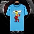 2016 movie man t shirt iron man  tees shirts Short Cosplay anime unisex Tees Tops HU316-20