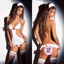 Porn Lingerie Hot Women Babydoll Lenceria Sexi Nurse Cosplay Uniform Lingerie Babydol Sexy Costumes Erotic Costume Role Play