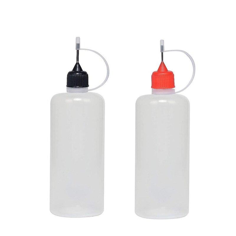 2pcs 100ml Plastic Squeezable Needle Bottles,Dropper Refillable Bottle ,Eye Liquid Dropper Sample Eye Drops