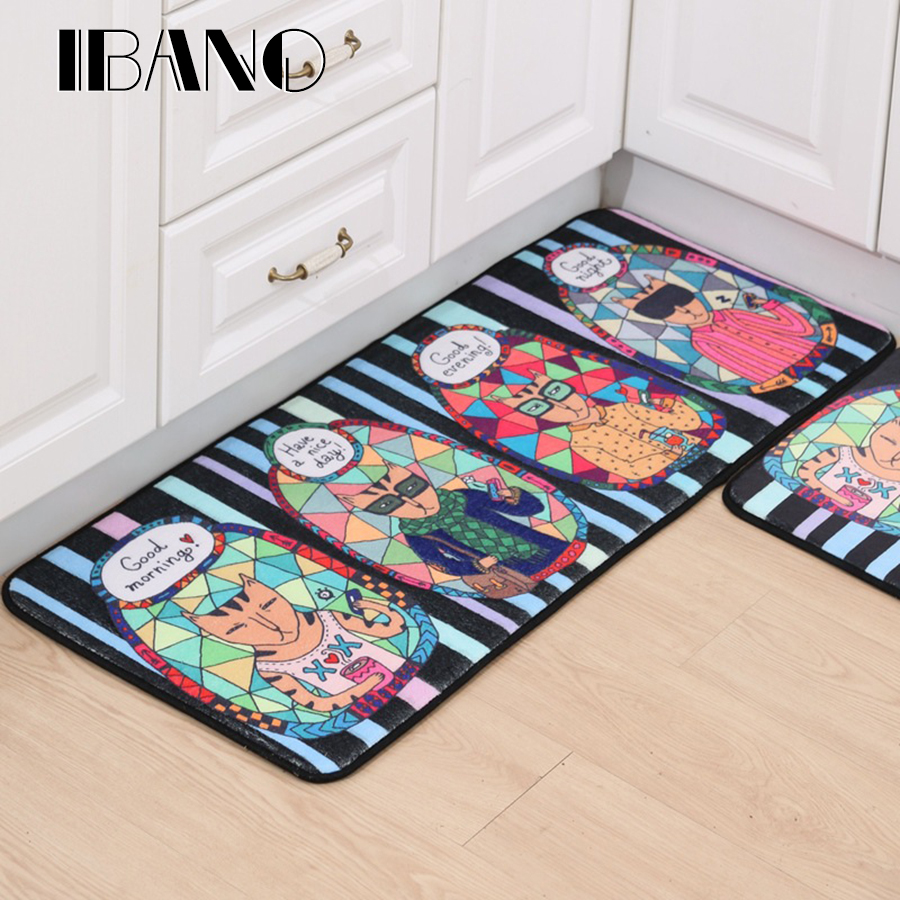 Cartoon Dog Cat Tapete Animal Printed Bathroom Kitchen Carpets Doormats Floor Mat For Living Room Anti-Slip Mat