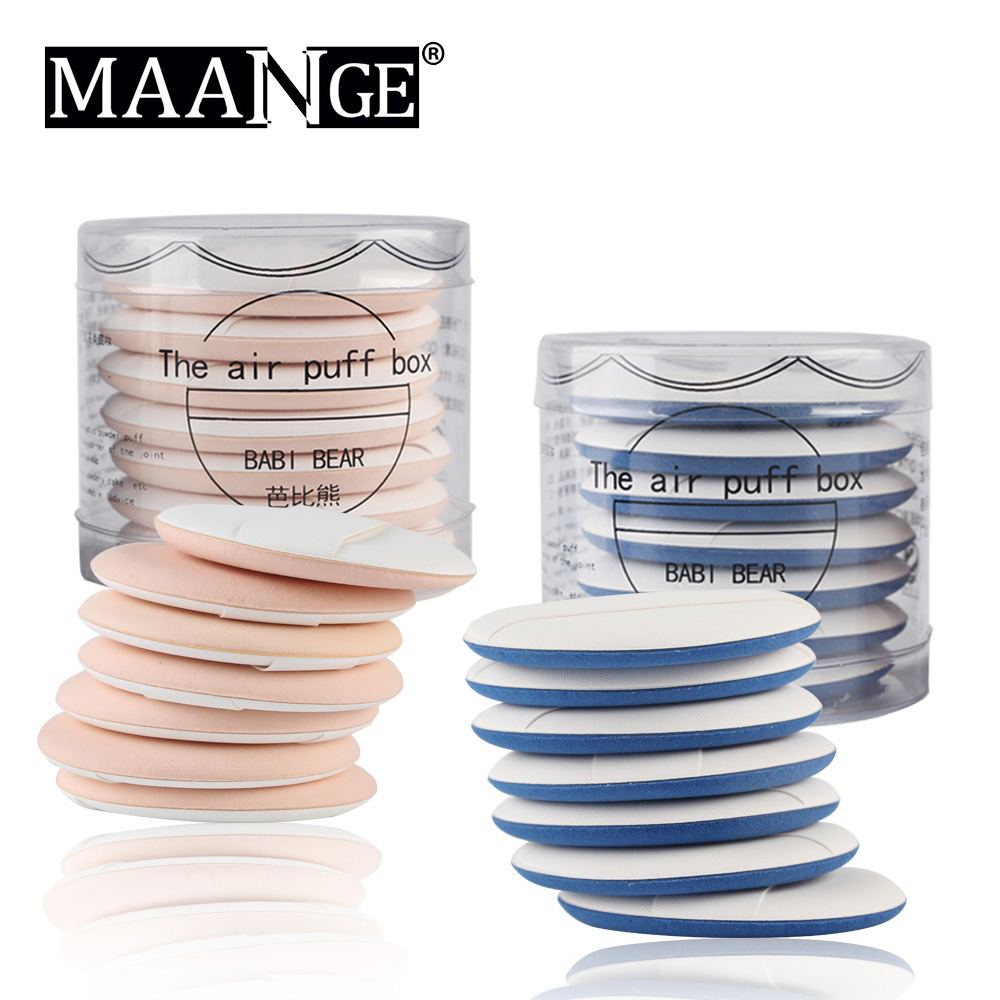 7Pcs Set Makeup Air Cushion Sponge Puff Pro Dry Wet Dual Use Concealer Foundation Flawless Smooth