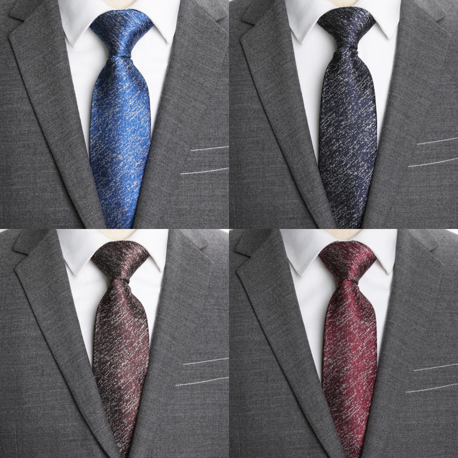 Men Ties Solid 8cm Formal Business Wedding Fashion Corbatas Para Hombre Jacquard Ties for Man Shirt Accessories Necktie