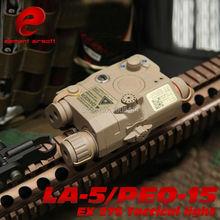 EX 276 Element LA-PEQ15 taktikaline valgus Airsoft taktikaline sõjalise patarei kaitseümbris punase laseri ja IR-ga