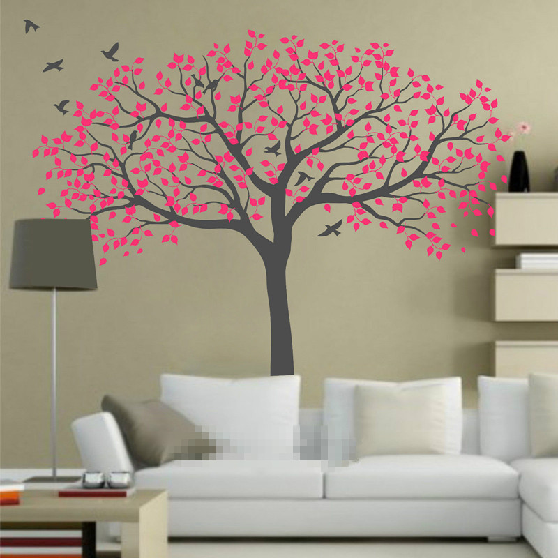 210*250 см большие детские дерево настенные наклейки виниловая наклейка художественная роспись съемные ТВ Фоновые наклейки Муро обои росписи ... - 5
