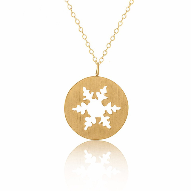 Winter Snowflake Necklaces For Women Christmas Jewelry Xmas Gifts