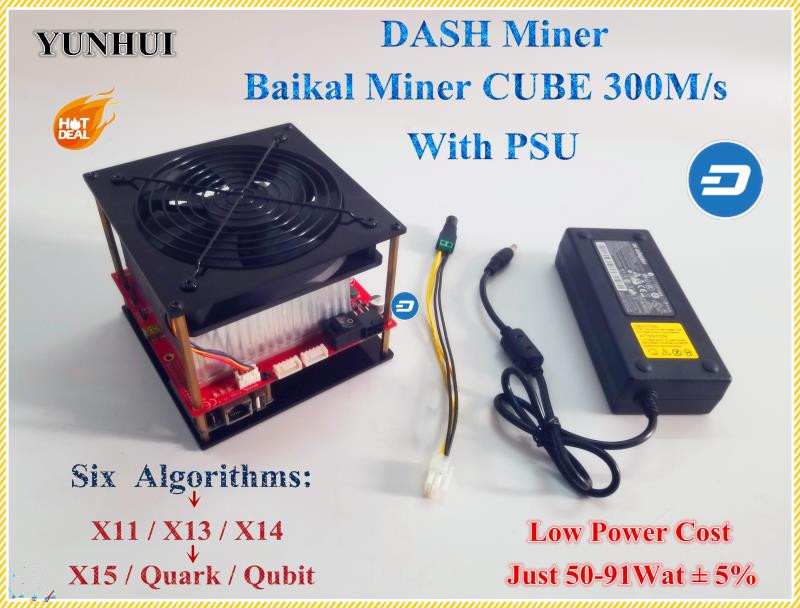 X11 DASH Minatore Baikal CUBO di 300 m/s Con Algoritmo di Supporto di Alimentazione X11/X13/X14/X15/ quar/qubit Meglio di Antminer D3