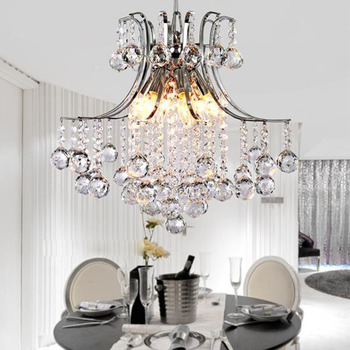 גביש נברשת מודרני אלגנטי תליית תקרת אור לסלון חדר שינה בר חתונת דקור תאורת אור קבועה