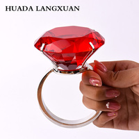 Wedding Decoration Red 8cm Large Crystal Diamond Props Gifts Souvenirs Home Decoration Wedding Favors and Gifts Glass Ornaments