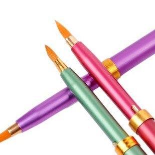 Portable retractable lip brush small retractable cover color
