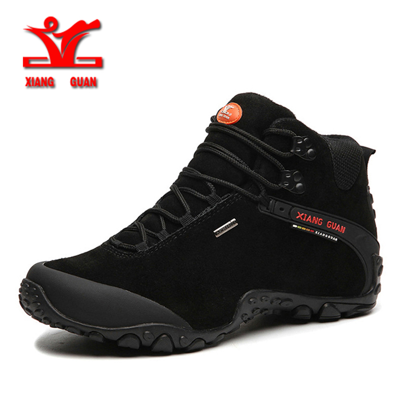 XIANG GUAN Outdoor Shoes Men Women Hiking Boots Genuine leather Waterproof Sport Shoes Non-slip Mountain Climbing Boots 82287 цена