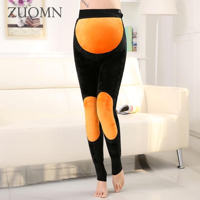 Polainas gruesas de Invierno Pantalones de Maternidad Embarazo Ropa Para 1 2 3 4 5 6 7 8 9 Meses Embarazadas Mujeres Pantalones de Terciopelo Cálidas GH285