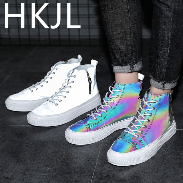 HKJL 2019 male sneakers mens new radiation reflective shoes flat Sneakers men vulcanized Z042