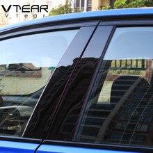 Vtear для hyundai creta ix25 автомобильное окно BC Колонка декоративная наклейка отделка зеркальная отражающая панель внешние аксессуары 2016-2019