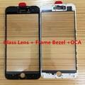 10 шт./лот для iPhone 7 7G/7 плюс Передняя Внешний экран Стеклянный Объектив с ХОЛОДНОГО ОТЖИМА Рамка Рамка & ОСА замена