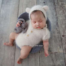 Mink yarn knit newborn dress clothes romper photo props,bunny clothes,handmade for props,baby Dress gift