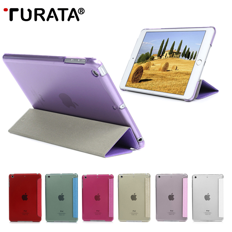 TURATA Ultra Thin Silk Magnetic PU Leather Smart Case For Pad Mini 1 2 3 Tablet Slim Folding Cover Stand For iPad Mini 3 2 1