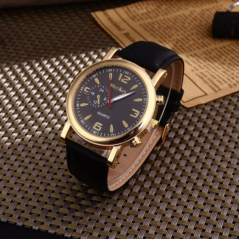 2018 New Fashion Men watch Top Famous Classic Luxury brand quartz watches men casual Leather watches