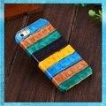 Case para iphone 5 5s de lujo de cuero genuino verdaderas naturales 3d colorido textura del cocodrilo cubierta dura para el iphone se teléfono celular