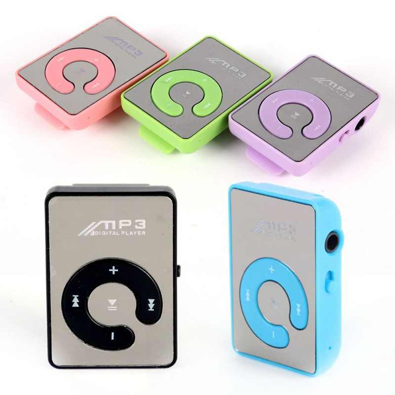 EDAL Mp3 Player Mini Mirror Clip USB Digital Mp3 Music Player Support 8GB SD TF Card