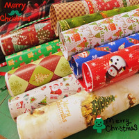 5 Sztuk/partia Boże Narodzenie Papier Pakowy Papier Pakowy Papier Do Pakowania 70x50 cm Styl Losowo