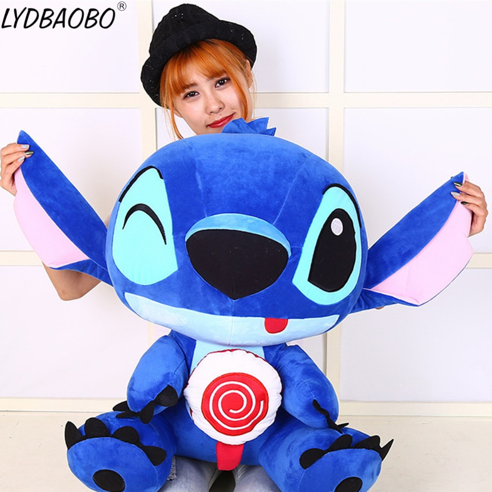 50/65cm Giant Plush Cartoon Cute Creative Lollipop Blink Stitch Stuffed Doll Brinquedos Toy Baby Soft Pillow Kids Birthday Gifts