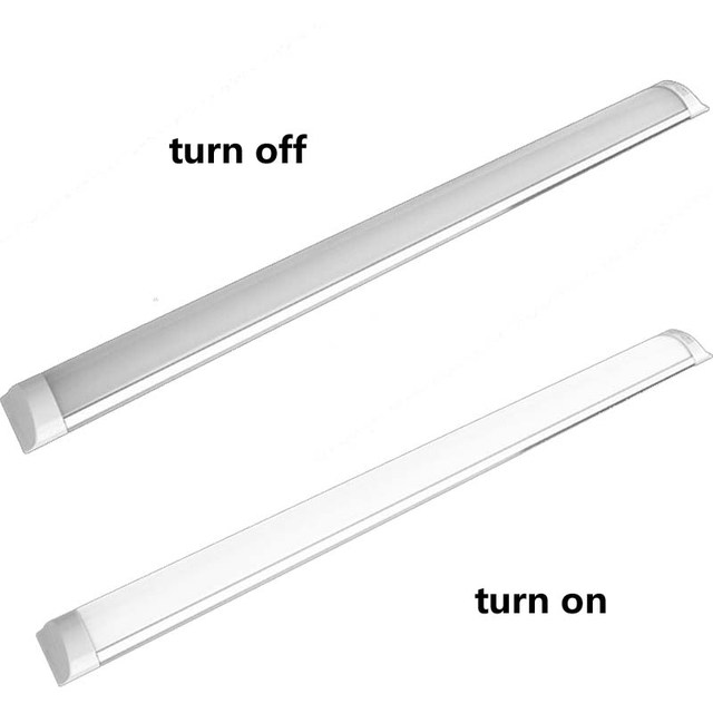 US $168 0  2FT 3FT 4FT 5FT 18W/28W/36W/48W Integration LED Batten Light  Dust proof Lamp Ceiling Purification Lights Three Anti light-in LED Bulbs &
