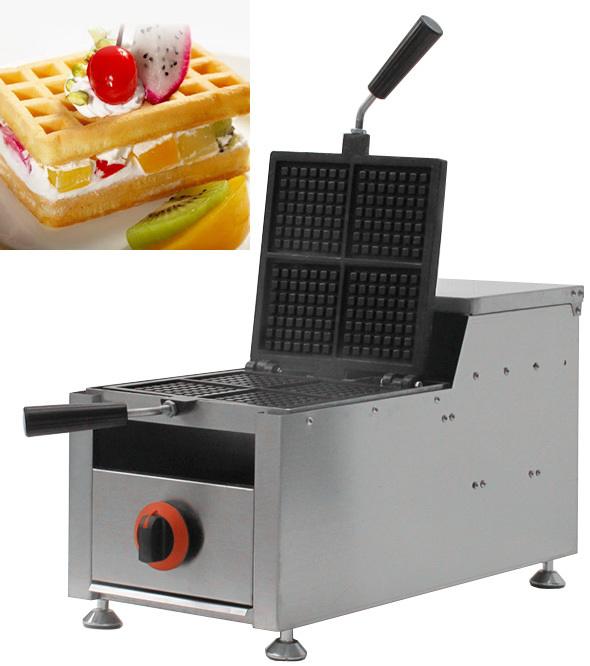 Stainless Steel  Gas style  four slices rectangle waffle maker,Gas waffle baker,GAS Waffeleisen