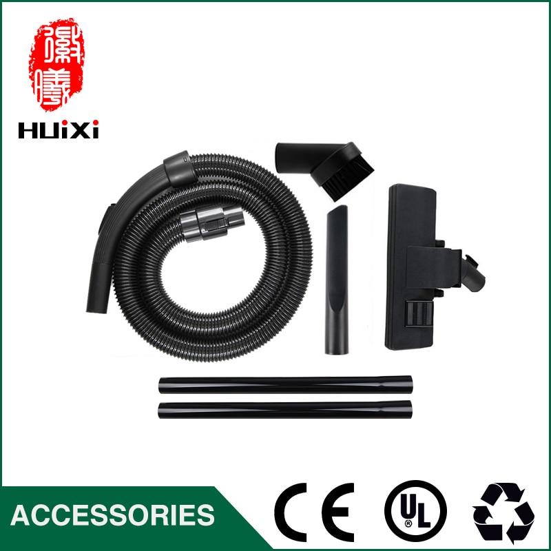 Diameter 32mm Black Flexible suction Hose+black Straight hose pipe +suction nozzle for Vacuum Cleaner parts VC35J-10AC CS869 etc